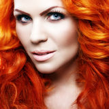 Beautiful girl with red hair Royalty Free Stock Images