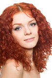 Beautiful girl with red hair Royalty Free Stock Photos