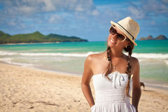 Beautiful Girl Relaxing on Holiday Stock Photography