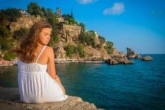 Beautiful girl relaxing Stock Images
