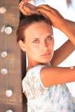 Beautiful girl relaxing outdoor Stock Photography