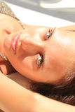 Beautiful girl relaxing outdoor Royalty Free Stock Photography