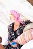 Beautiful girl relaxing outdoor Royalty Free Stock Photo