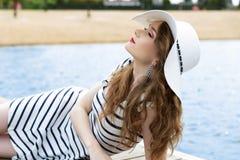 Beautiful girl relaxing in summer Stock Image