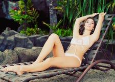 Beautiful girl at resort Royalty Free Stock Photos