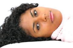 Beautiful girl resting stock photo