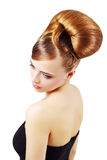Beautiful girl with retro hairstyle Royalty Free Stock Images