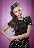 Beautiful girl in retro style Royalty Free Stock Photos