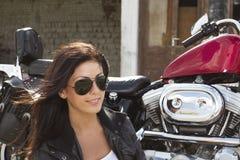 Beautiful girl rider royalty free stock photo
