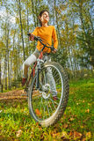 Beautiful girl riding bicycle Royalty Free Stock Image