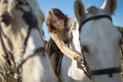 Beautiful girl riding a horse Royalty Free Stock Photography