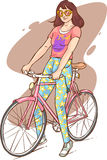 Beautiful girl riding Stock Images