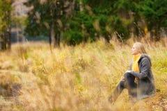 Beautiful Girl on Rivershore Stock Images