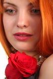 Beautiful girl with rose stock photos