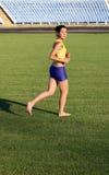Beautiful girl running. Royalty Free Stock Images