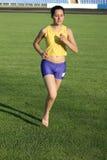 Beautiful girl running. Royalty Free Stock Photography