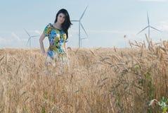 Beautiful girl in the Rye Stock Photo