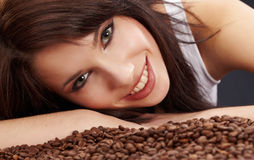 Beautiful girl's with coffee Royalty Free Stock Image