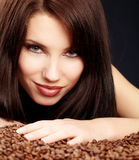 Beautiful girl's with coffee Royalty Free Stock Photos