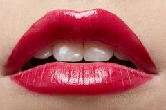 Beautiful girl's lips Royalty Free Stock Image