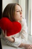 Beautiful girl is sad, sadness due the guy, keep heart Stock Photos