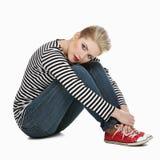 Beautiful girl in sailor shirt Royalty Free Stock Photo