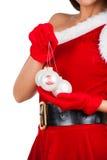 Beautiful girl in santa costume Stock Photos