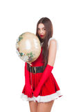 Beautiful girl in santa costume Stock Images