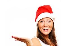 Beautiful girl in Santa's hat Stock Image