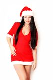 Beautiful girl santa Royalty Free Stock Photos