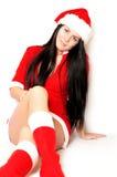 Beautiful girl santa Royalty Free Stock Image