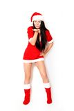 Beautiful girl santa Royalty Free Stock Photo