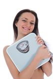 Beautiful girl with  scales Royalty Free Stock Photo