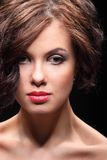 Beautiful girl with a scar on face and shoulder Royalty Free Stock Images