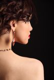 Beautiful girl with a scar on face and shoulder Stock Photos
