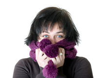 The beautiful girl in a scarf Royalty Free Stock Photos