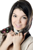 The beautiful girl in a scarf, the Moslem Stock Photo