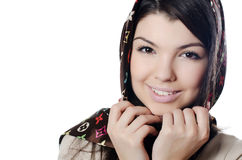 The beautiful girl in a scarf, the Moslem Stock Images