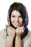 The beautiful girl in a scarf, the Moslem Stock Photography