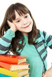 Beautiful girl with school books Royalty Free Stock Image