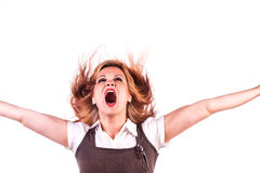 Beautiful girl screaming Royalty Free Stock Photography