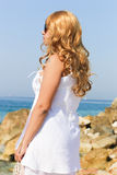 Beautiful Girl at the sea Royalty Free Stock Photography
