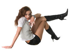 Beautiful girl in clothing Stock Photography