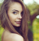Beautiful girl with a sexy look Royalty Free Stock Photos