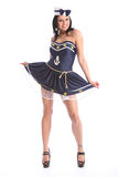 Beautiful girl in sexy sailor dress costume Royalty Free Stock Photography