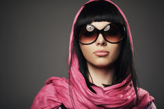 Beautiful girl with shawl portrait Royalty Free Stock Image