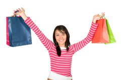 Beautiful girl shopping Stock Image