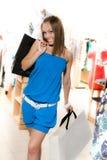 Beautiful girl is shopping Stock Photography