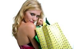 Beautiful Girl Shopping Stock Photography
