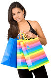 Beautiful girl with shopping Royalty Free Stock Photo